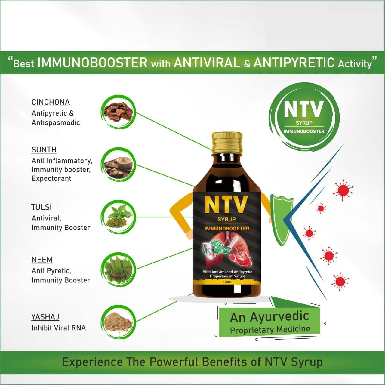 20 MICRONS HERBAL NTV SYRUP - Immunity Booster Syrup