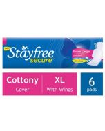 STAYFREE Sanitary Secure Xl Cottony Cover 6 pads