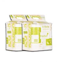 Kosher 2 ply Kitchen Tissue/Towel Paper Roll 4 in 1 pack Combo of 2-90 pulls each - Total 720 pulls, (8 rolls)