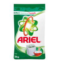Ariel Brilliant Stain Removal in 1 Wash 3kg
