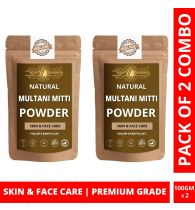 Ayur Blessing Multani Mitti Powder Skin Care Products Combo, Face Pack, Skin Care (100 Gram * 2)