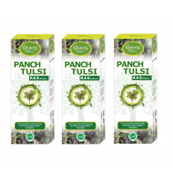 Ayukriti Herbals Panch Tulsi Juice Cough & Worm Infestation 500 ml (Pack of 3)