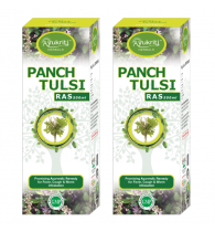 Ayukriti Herbals Panch Tulsi Juice Cough & Worm Infestation 500 ml (Pack of 2)
