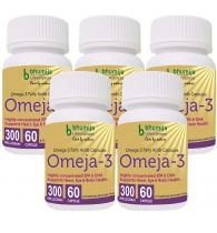 Bhumija Lifesciences Omega3 Fatty Acids (Omeja3) Capsules 60's -  (Pack of Five)