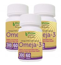 Bhumija Lifesciences Omega3 Fatty Acids (Omeja3) Capsules 60's -  (Pack of Three)