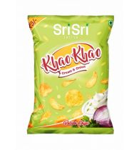 Sri Sri Tattva Khao Khao Cream And Onion Potato Chips - 13gm