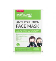 BodyGuard Large N99 + PM2.5 Anti Pollution Face Mask - 1 Unit, with 6 Layer Protection Activated Carbon for Men and Women