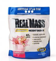 Gaspari Nutrition Real Mass Advanced, 12lbs Strawberry Milk Shake