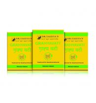 Dr. Vaidya's Grahyavati Pills - Ayurvedic Treatment for Irritable Bowel Syndrome - Pack of 3