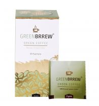 Greenbrrew Natural Instant Green Coffee Beans Extract For Weight Loss - 20 Sachets 60gm