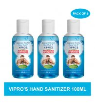 Vipro's Hand Rub (Sanitizer) Advanced 100 ml (Pack of 3)