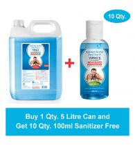 Vipro's Hand Rub (Sanitizer) Advanced 5 ltr (Get 10 Qty. 100 ml Sanitizer Free)