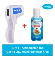 Infrared Thermometer with 1 Year Warranty (Get 10 Qty. 100 ml Sanitizer Free)