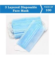 Suntech Mask with Ear Loop, 3 Layered Disposable Protective Pollenproof Daily Use Face Mask (Pack of 50)