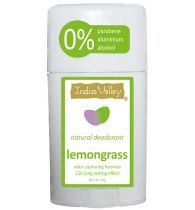 Indusvalley natural Lemongrass Deostick with no parabene, no aluminium, no alcohol