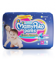 MamyPoko Pants Extra Absorb Diaper Medium Size pack 8