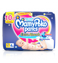 MamyPoko Pants Extra Absorb Diaper Small Size pack 4