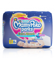 MamyPoko Pants Extra Absorb Diaper Small Size pack 8