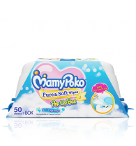 MamyPoko Pure and Soft Wipes Box Non Fragrance 50 Pieces