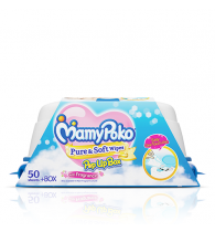 MamyPoko Pure and Soft Wipes Box with Fragrance 50 Pieces