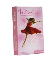 Moods Velvet Women/Female Initiated Contraception Lubricated Protection With Plasure Condom (Pack of 3 Nos.)