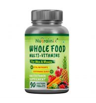 Nutrainix Whole Food Multivitamin for Men & Women with 50 Vital Nutrients, 12 Performance Blends, Natural Vitamins, Minerals   Natural Energy Support - 90 Vegetarian Tablets