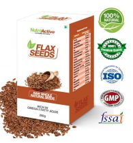 NutroActive FLAX SEEDS Raw Whole (Alsi) 250 gm