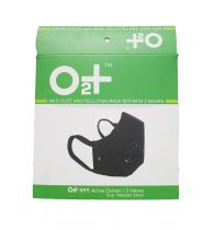 O2+ Stone Reusable Anti Pollution Mask With N99 Active Carbon Grade Filter - Small
