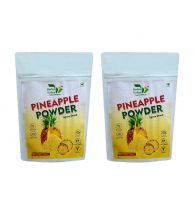 Indian Herbal Valley Natural, Pure and Real Pineapple Powder (Pack of 2) 50g Each