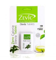 Zevic Stevia White Tablets - 100 Tabs (Sugar Free)