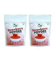 Indian Herbal Valley Natural, Pure and Real Strawberry Powder (Pack of 2) 50g Each