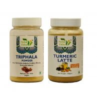 Indian Herbal Valley Natural and Pure Triphala and Turmeric Latte Powder (100g Each) - For General Wellness