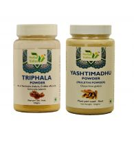 Indian Herbal Valley Natural and Pure Triphala and Yashtimadhu/Mulethi Powder (100g Each) - For General Wellness
