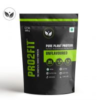 PRO2FIT Vegan Plant protein powder with Pea protein Brown Rice and Mungbean Protein – UNFLAVOURED 500g