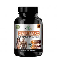 VEDA MAXX GAIN MAXX Weight Gainer Capsules Supplement for Increase Appetite & Promote Weight Gain 100% Natural Vegetarian Tablet (Pack of 01 - Contain 60 Capsules)