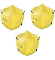 Venus V44+ N95 Mask, ISI Marked, Yellow (Pack of 2)