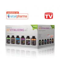 Viva's Revitalizing Kit for Safed Musli, Shudh Shilajit, Gokshura, Ashwagandha Strength, Stamina and Power- 6 Bottles