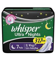 Whisper Sanitary Napkins Ultra Nights XXXL Wings 7 Pads