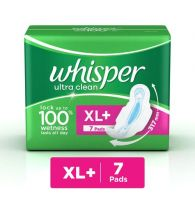 Whisper Sanitary Pads Ultra Clean XL Plus Wings 7 Pads