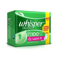 Whisper Sanitary Pads Ultra Clean XL Wings 44 Pcs