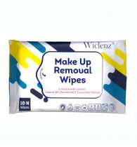 Wiclenz Make Up Removal Wipes - Pack of 10 Wipes - Set of 4