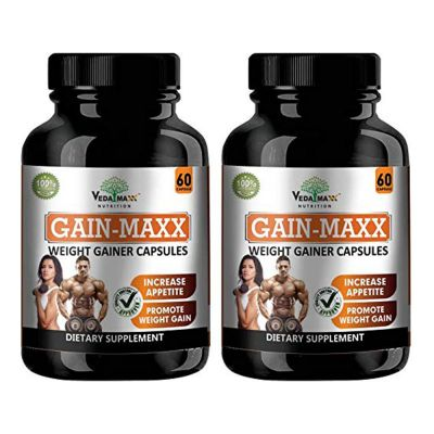 Buy VEDA MAXX GAIN MAXX Weight Gainers 60 Capsules (Pack Of 02) at Best  Prices in India - Retailpharma