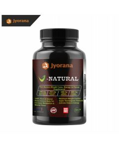 Jyorana V-Natural Fat Burner,Weight Loss, Energy Booster & Focus LAB TESTED Supplement -  100% Pure & Natural 60 Veggie Pills
