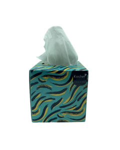 Kosher Avatar Facial Cube Tissue Box - Pack of 6-2 Layered - 80 Pulls in Each, (Total 480 Pulls)
