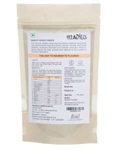 Madilu Organics Barley Grass Powder - 100 gm