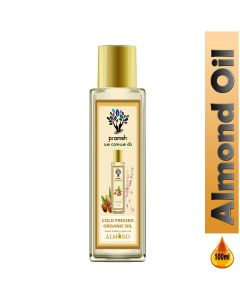 Pramsh Cold Pressed Almond Oil   Rich in Vitamin - E for Healthy Skin, Hair and Body - 100 ml