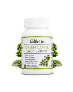 Health First 100% Natural Supplement Pure Green Coffee Bean Extract 50 % Gca Weight Loss 800 Mg (60)