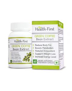 Pure Green coffee bean Max Extract by Health first, 50 % GCA Weight Loss,100% Natural Supplement, 800 mg (120)