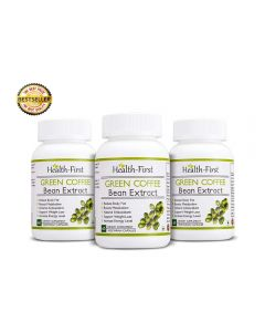 Pure Green coffee bean Max Extract by Health first, 50 % GCA Weight Loss,100% Natural Supplement, 800 mg (180)