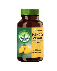 Shudhanta Herbal 100% Mango Capsule 800g - 90 Herbal Vegetarian Capsules